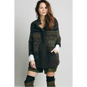 Free People Starlight Shadow Cardigan Poncho